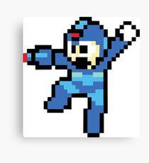 Megaman 8 Bits Canvas Print