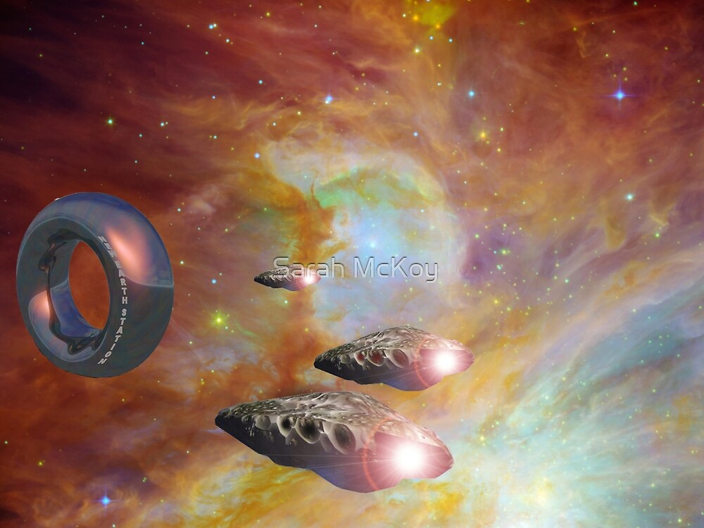 New Earth Station and Squadron 5 by Sarah McKoy