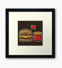 Burger and Fries Framed Print