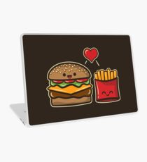 Burger und Pommes Laptop Folie