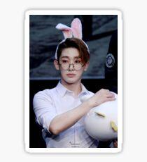 Bunny eared wonho Sticker