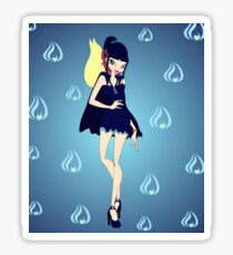 Blue Flame/Fire Fairy Drawing - (Designs4You) Sticker