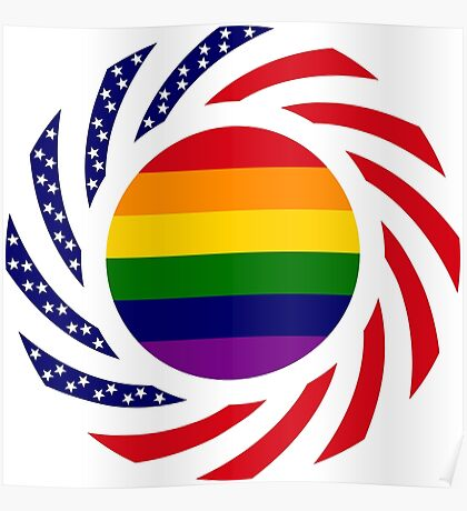 Love is Love American Flag Poster