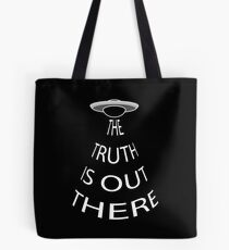 The Truth is Out There (Black) Tote Bag