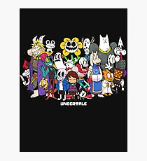 Undertale - All characters Photographic Print