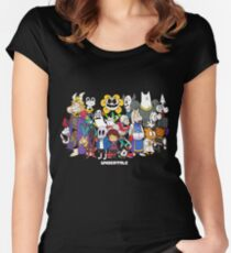 Undertale - All characters Women's Fitted Scoop T-Shirt