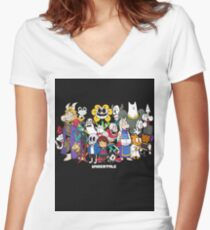 Undertale - All characters Women's Fitted V-Neck T-Shirt