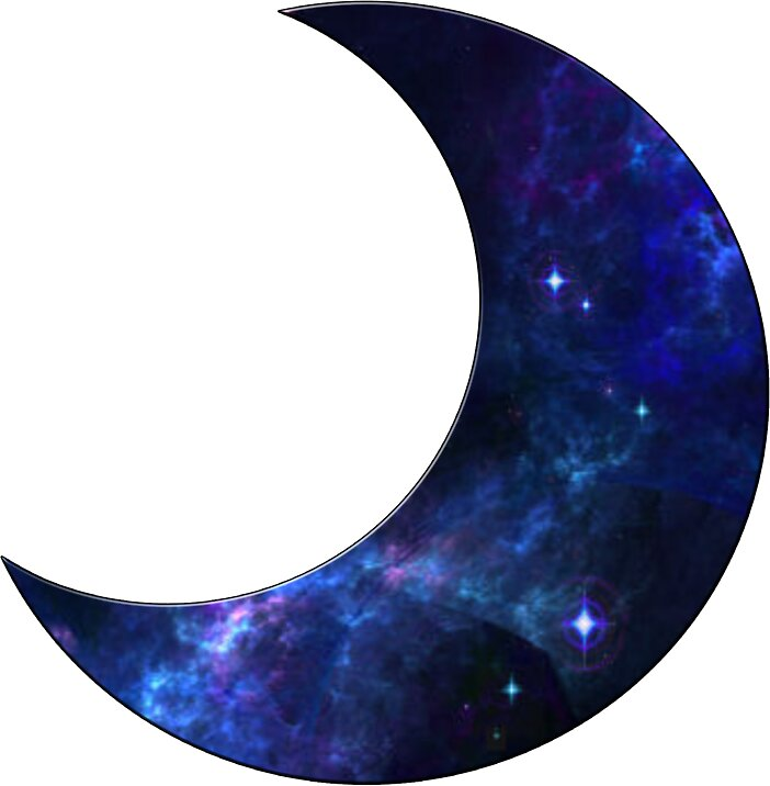 Quot Galaxy Crescent Moon Quot Stickers By Rileyr21 Redbubble