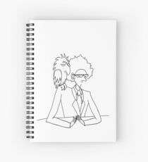 A Geography Teacher and his pet Crow Spiral Notebook
