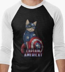 Captain Americat Men's Baseball ¾ T-Shirt