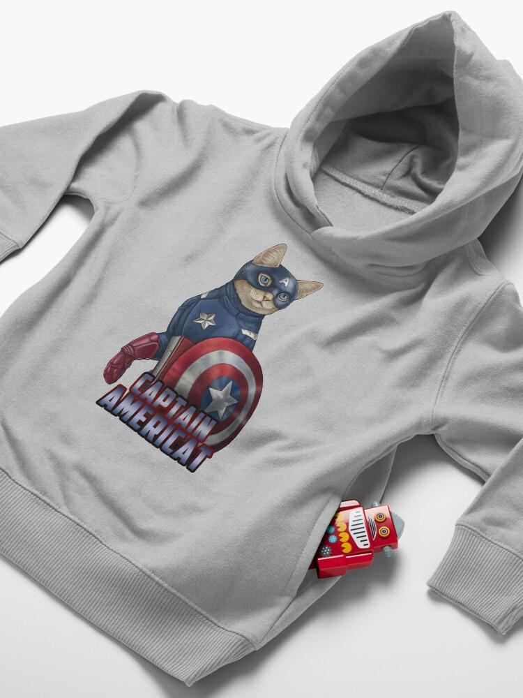 Alternate view of Captain Americat Toddler Pullover Hoodie