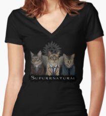 Supurrnatural Women's Fitted V-Neck T-Shirt