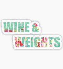 Wine & Weights  Sticker