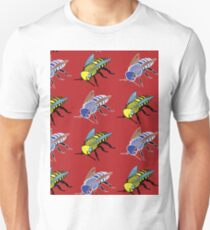 'Bees in red' design my LUCILLE T-Shirt