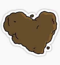 Poop Heart Sticker