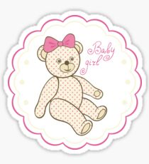 Pattern for baby girl Sticker