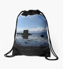 Castle Stalker, Western Scotland Drawstring Bag