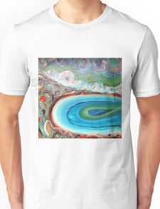 Sea and Sky in Acrylic Unisex T-Shirt