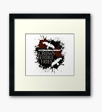 Crows Before Hoes - GoT Framed Print