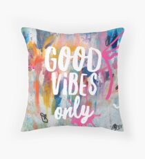 Good vibes only jam Throw Pillow