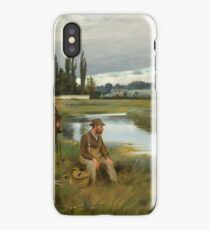 PERCY BUCKMAN British - Mr Christopher Hammond Trout Fishing on the River Axe - Circa  iPhone Case/Skin