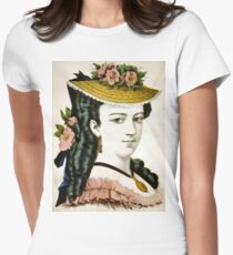 Beauty of the Atlantic - 1907 - Currier & Ives Women's Fitted T-Shirt