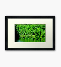 Fishing on Chris Green Lake    ^ Framed Print