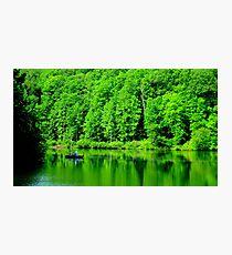 Fishing on Chris Green Lake    ^ Photographic Print