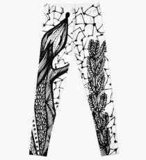 Doodle squirrel, Ukrainian symbol coat of arms Leggings