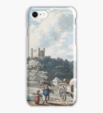Peter La Cave  GLEANERS WITH A HORSE AND CART ON A COUNTRY ROAD iPhone Case/Skin
