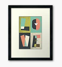 LOVE - typography full colour Framed Print