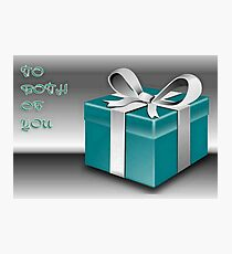 A Jade Wrapped Gift Box To Both Of You  Photographic Print