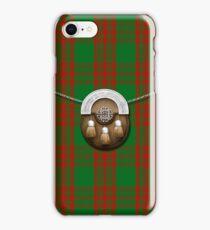 Clan Menzies Tartan And Sporran iPhone Case/Skin