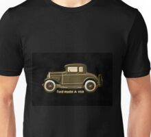 A digital painting of my vector drawing of The Ford Model A of the 1930s old style image Unisex T-Shirt
