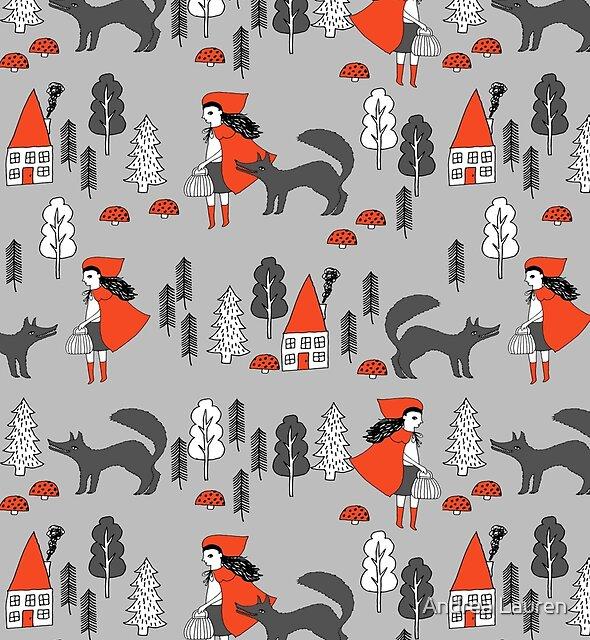 Red Riding Hood Märchen Kinder Kindergarten Kinder Muster andrea Lauren von Andrea Lauren
