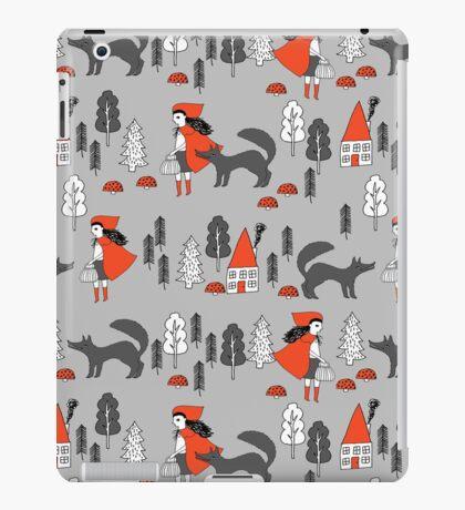 Red Riding Hood fairy tale children nursery kids pattern andrea lauren  iPad Case/Skin