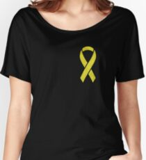 Yellow Ribbon  Women's Relaxed Fit T-Shirt