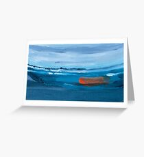Boat Abstract Painting Greeting Card
