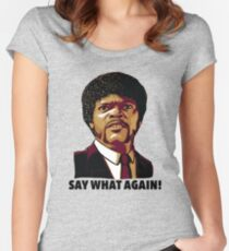 Pulp Fiction Say What Again Women's Fitted Scoop T-Shirt