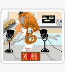 The News Announcer Sticker
