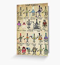 Bill Cipher Statistics. Greeting Card