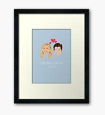 Leslie Knope Loves Ben Wyatt Framed Print