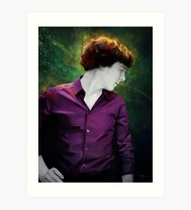 Purple shirt Art Print