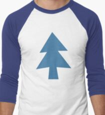 Mystery Pines Tree Men's Baseball ¾ T-Shirt