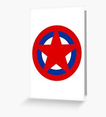 Soviet Air Forces Roundel Greeting Card