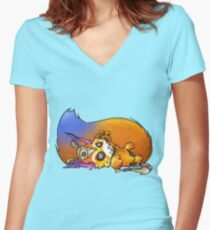 Gnar Women's Fitted V-Neck T-Shirt