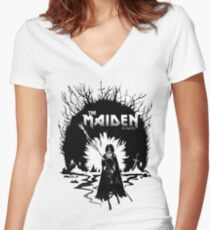 The Maiden in Black Women's Fitted V-Neck T-Shirt