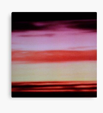 Sunset cloud bands Canvas Print
