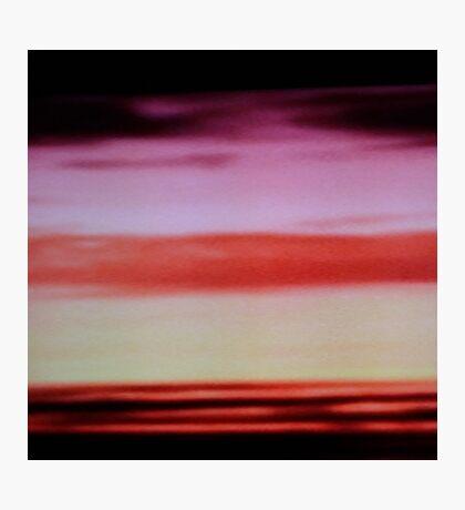 Sunset cloud bands Photographic Print