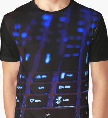 Laptop Blue lights Keyboard Graphic T-Shirt